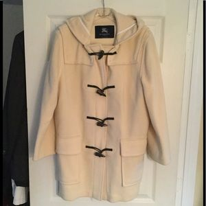BURBERRY LONDON DUFFLE TOGGLE HOODED TRENCH COAT M